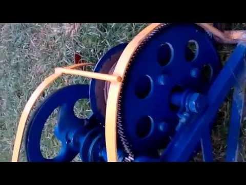 лебедка бычок видео