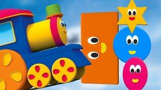 Bob, the Train   bob hình dạng chuyến tàu bài hát   hình dáng học tập cho trẻ em