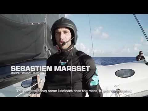 Jules Verne Trophy I Day 7 I Mast climbing (drone) and technical maintenance offshore Brazil.