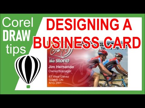Designing a business card in CorelDraw