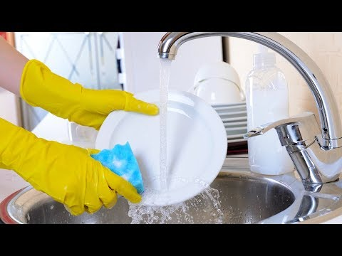 Play this video How To Properly Wash the Dishes