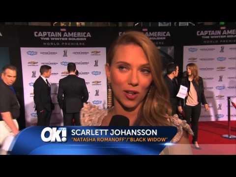 ScarJo on the Edge of her Seat | OK! TV Interview