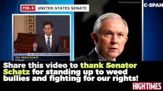 Jeff Sessions was called out by Brian Schatz for spreading Reefer Madness