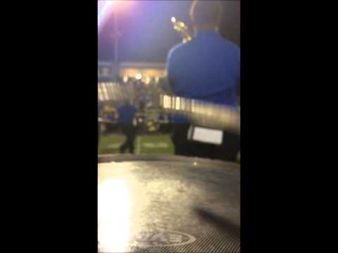 East Ascension High School - Marching Snare Cam 2014 - First Performance