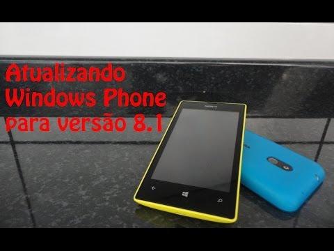 Atualizando Windows Phone para 8.1