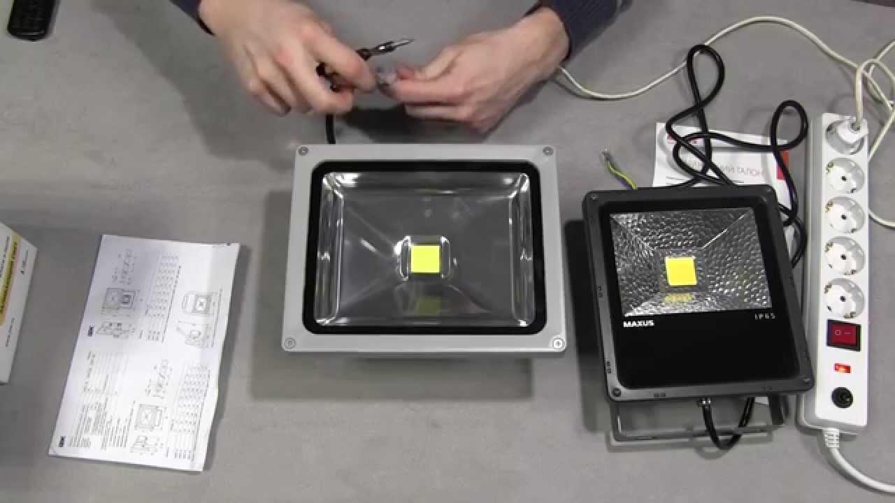 Ремонт светодиодного прожектора 50 ватт своими руками