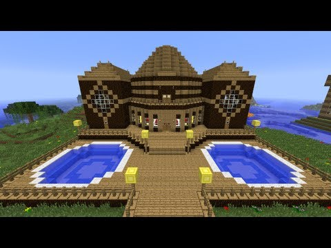 Minecraft Tutorial of How I Built The Wooden Mansion.