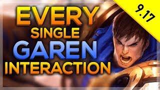 (9.17) Every Single NEW Garen Interaction | Reworked Judgement (E) | League of Legends