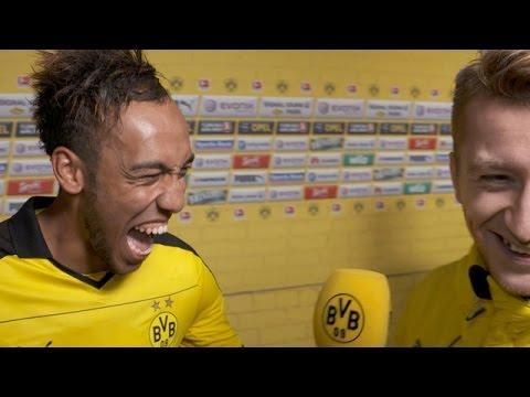 5:1 - Aubameyang im Interview mit Marco Reus | BVB - FC Augsburg 5:1