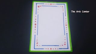 Simple border design on paper for project/Beautiful School project for kids/Easy Attractive design