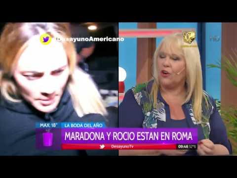 Rumores de casamiento de Diego Maradona y Rocío Oliva en Italia