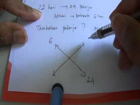 Rumus Cepat Matematika SMP - Perbandingan Terbalik