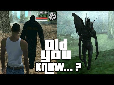 GTA San Andreas Secrets and Facts 8 Ghosts, Mothman, Bigfoot, UFO