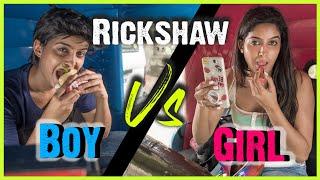 Boys VS. Girls : Rickshaw Ride | BIG CONTEST SURPRISE | Rickshawali
