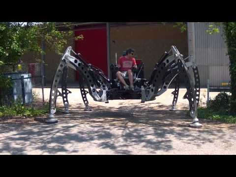 Raw footage of the Mantis Walking Machine tests 05.2012