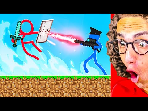 Reacting To The BEST MINECRAFT STICK FIGHT ANIMATIONS!