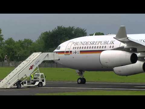 G8 Summit: German Chancellor Angela Merkel arrives