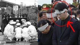 Con Trrai CTN Trần Đại Quang cúi mặt không dám nhìn giây phút tiễn cha