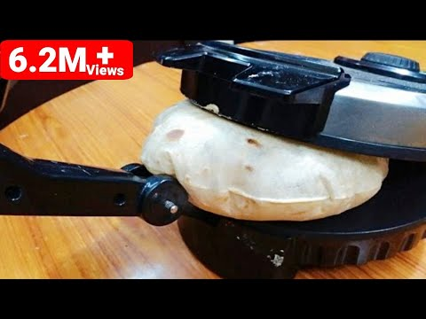 *How to use & make ROTI MAKER in roti in hindi /Chappati Maker/tortilla maker- HD Dough Prep to Roti