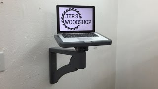 Shop computer wall mount