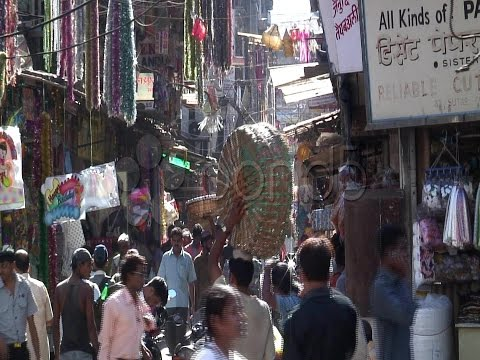 Busy Crawford Market, Mumbai, India Asia. Stock Footage