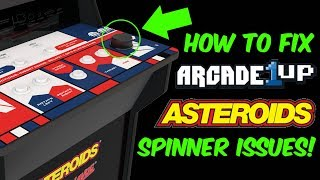Arcade1Up Asteroids Spinner Issues FIXED (QUICK AND CHEAP MOD)