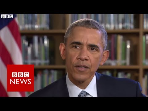 Barack Obama on Brexit, Syria and Michelle - BBC News