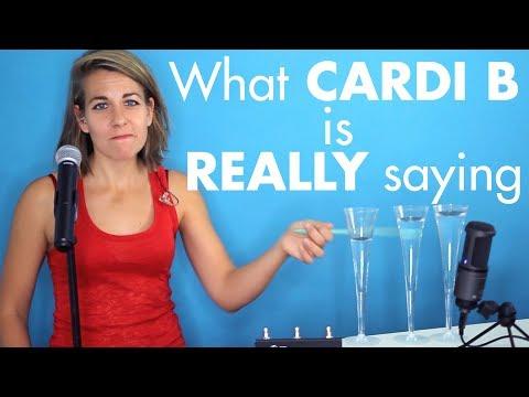 WHAT IS CARDI B REALLY SAYING? | Bodak Yellow (Literal Lyrics cover)