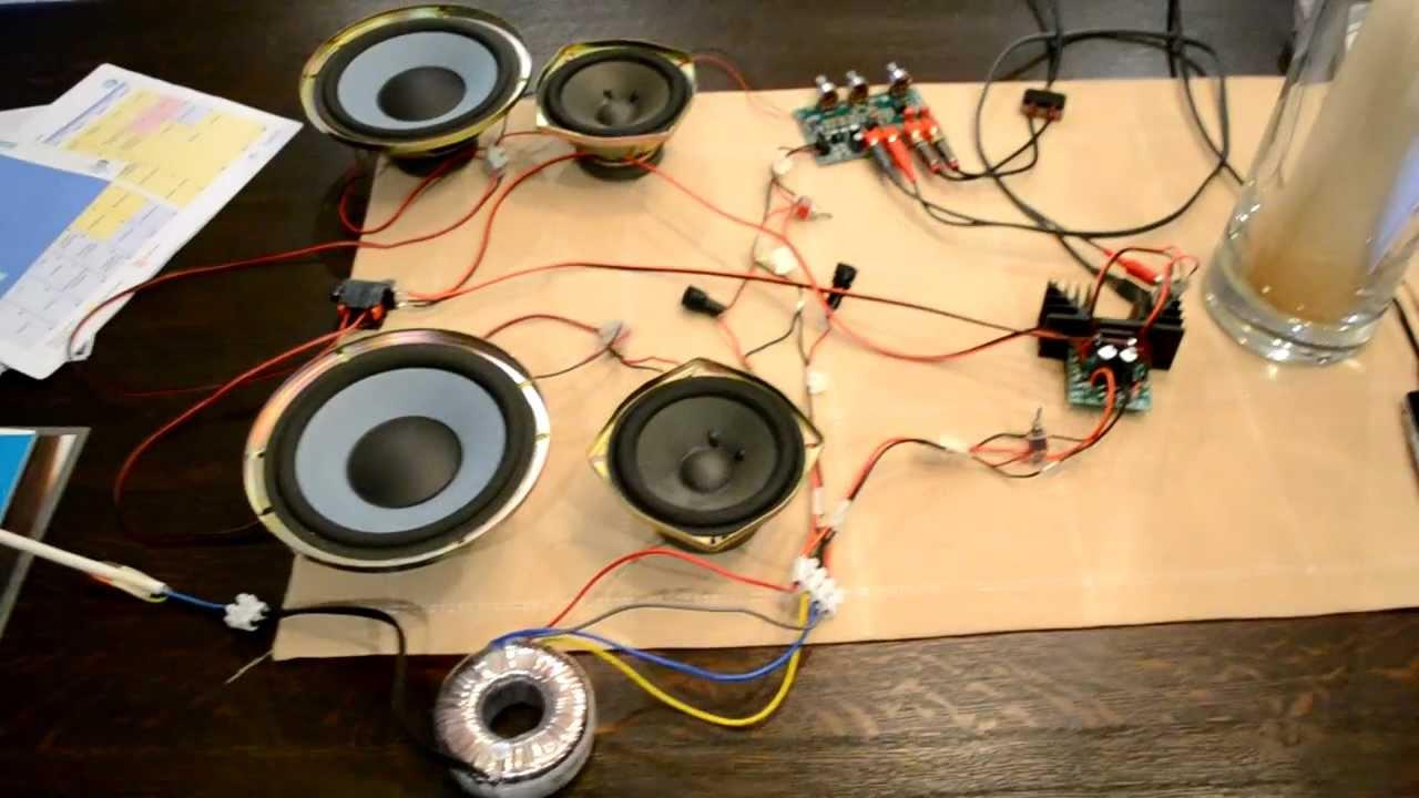 Velleman amplifier - K4003 with K8084 - YouTube