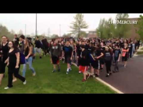 Perkiomen Valley High School students walk out of classes to protest cutting teacher positions