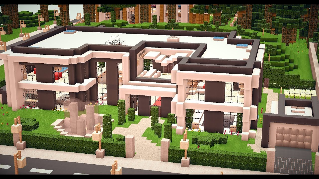 Minecraft modern house 011 hd download youtube for Minecraft modernes haus download 1 7 2