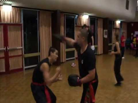 Southern Praying Mantis Kung Fu (Chow Gar): Pad Sparring Image 1