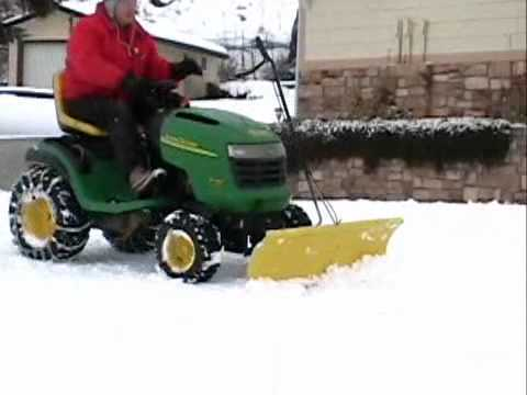 John Deere L130 K66 Plowing Snow Youtube