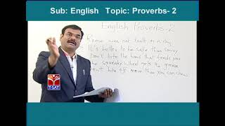 TSPSC - Police  || English - Proverbs - P2  || Dr V Sreenatha Chary