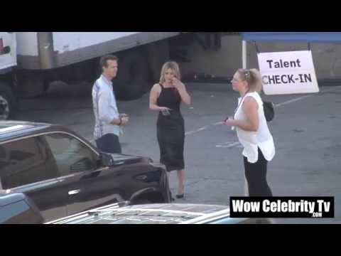 Hilary Duff spotted backstage at Award Show in Hollywood
