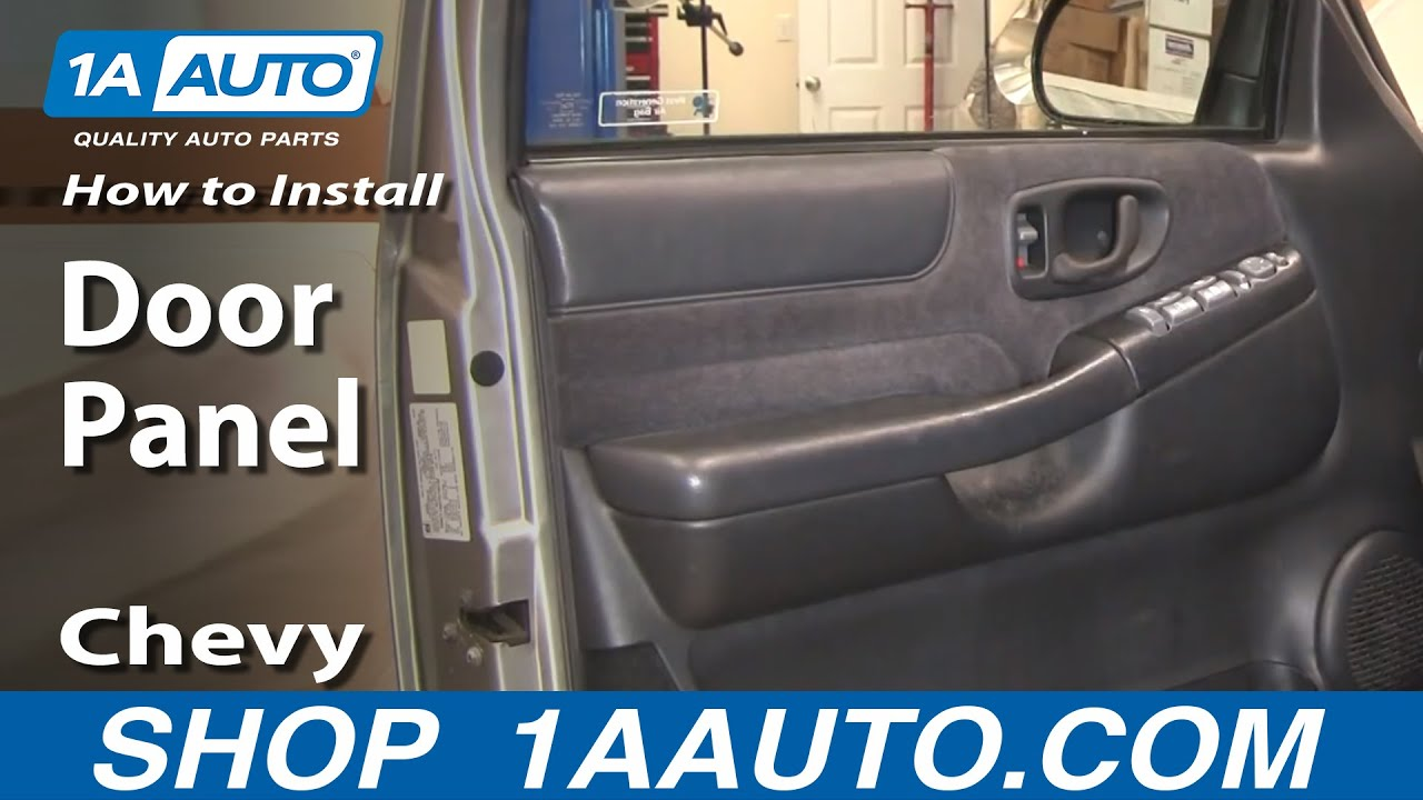 how to install replace door panel chevy s