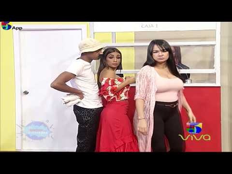 Popolo Acosando A Una Colombiana En La Fila De La Agencia - El Show De La Comedia