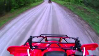 2012 Honda Rancher 420 tops out against Can Am 800R XC