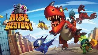 Trò chơi khủng long náo loạn thành phố - cu lỳ chơi game rise of destroy