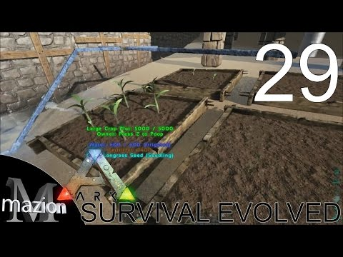 ARK: Survival Evolved - Base building - irrigation/garden- E29 Gameplay!