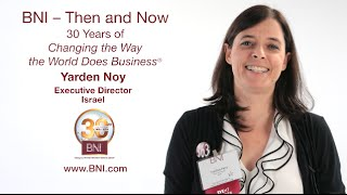 Yarden Noy Says Thank You to BNI for an Amazing Journey