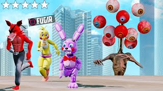 ANIMATRONICS SIREN HEAD MUTANTE ATACOU OS ANIMATRONIC? | GTA V Five Nights at Freddy's