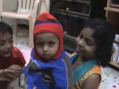 Omkar, Trupti, Bhagyashree playing with Yash!