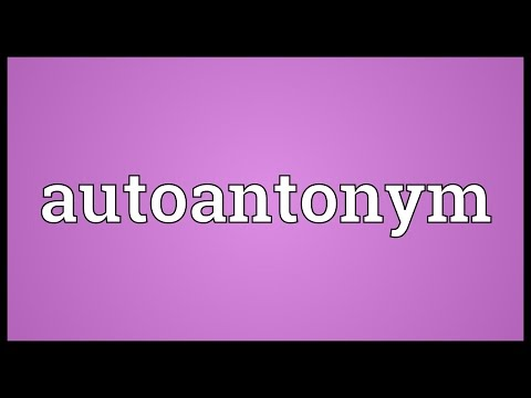Header of Autoantonym