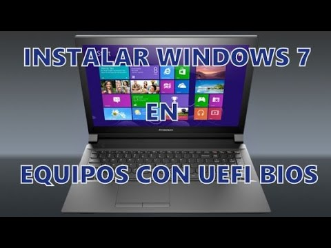 Instalar Windows 7   Laptop Lenovo G50-30 con Windows 8 y UEFI