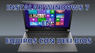 Instalar Windows 7 | Laptop Lenovo G50-30 con Windows 8 y UEFI