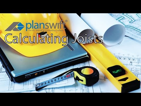 Calculating Joists & Rafters Using Joist Tool in PlanSwift
