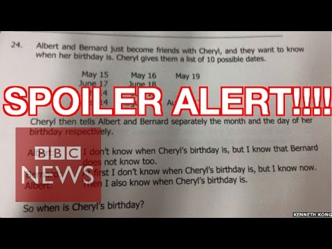 Cheryl's Birthday: Singapore's maths puzzle SOLVED - BBC News