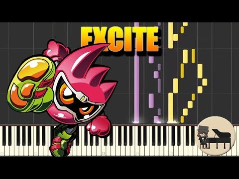 🎵 Excite - Kamen Rider Ex-Aid OP [Piano Tutorial] (Synthesia) HD Cover