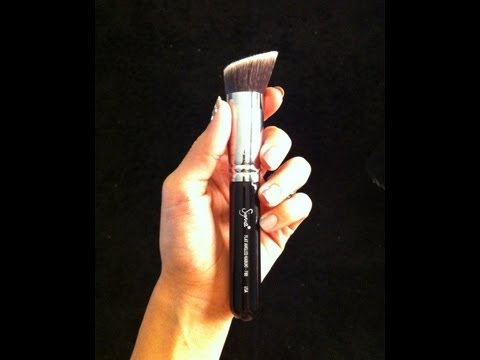 Sigma's F88 Flat Angled Kabuki Brush Review & Demo